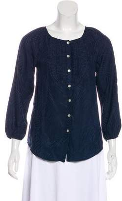 Marc by Marc Jacobs Silk Button-Up Blouse