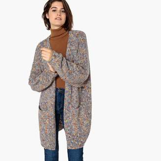 La Redoute Collections Textured Knit Open Cardigan