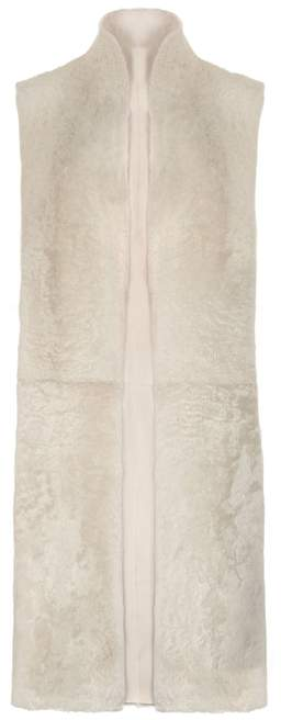 Gushlow & Cole Long Stand Collar Shearling Gilet