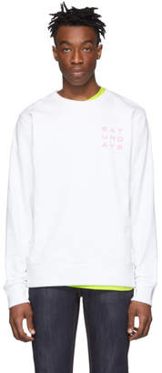Saturdays NYC White Lotus Grid Sweatshirt