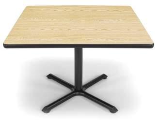 "OFM Model XT42SQ 42"" Multi-Purpose Square Table with X-Style Pedestal Base, Oak"