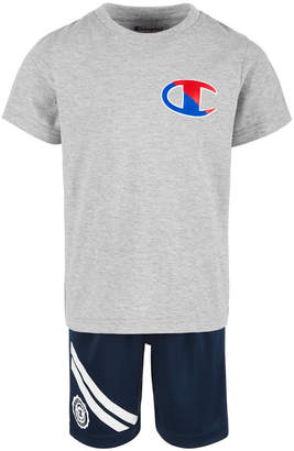 67965ba0 Champion Toddler Boys 2-Pc. Logo-Print T-Shirt & Shorts Set