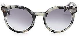 Balmain Women's 51MM Round Tortoise Shell Sunglasses