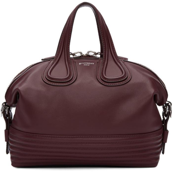 Givenchy Burgundy Small Biker Stitching Nightingale Bag