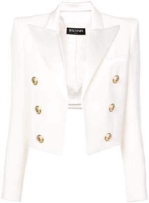 Balmain classic open-front jacket