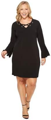 MICHAEL Michael Kors Size Grommet Lacing Matte Jersey Dress Women's Dress