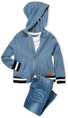7 For All Mankind Infant Boys) 3-Piece Thermal Hoodie & Jeans Set
