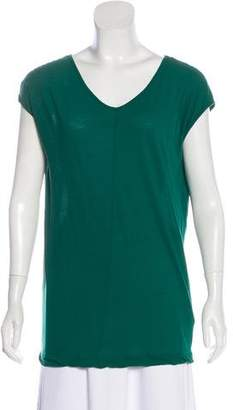 A.L.C. V-Neck Short Sleeve Top