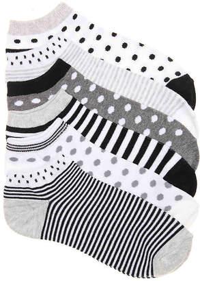 Mix No. 6 Polka Dot Stripe No Show Socks - 6 Pack - Women's