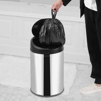 Rubbish Yosoo YOSOO Automatic Sensor Dustbin Stainless Steel Sensor Trash Bin Touchless Dustbin Sensor Garbage Can Battery Powered Trash Can (50L)