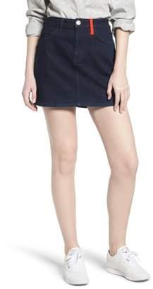 Current/Elliott The Five-Pocket Denim Miniskirt