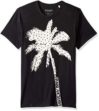 GUESS Men's Short Sleeve Basic Stud Palm Crew T-Shirt