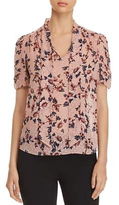 Kate Spade Floral-Print Self-Tie Sash Top