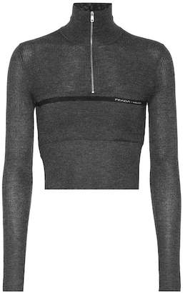 Prada Silk and wool turtleneck sweater