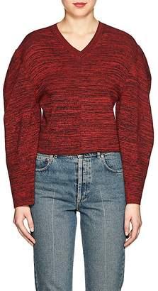 Stella McCartney Women's Mélange Cotton Crop Sweater