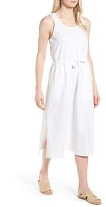 Eileen Fisher Drawstring Organic Cotton Midi Dress (Regular & Petite)