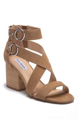 Steve Madden Archer Leather Block Heel Sandal