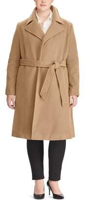 Lauren Ralph Lauren Wool Blend Wrap Coat