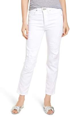 McGuire Kaia Distressed High Waist Slim Jeans (Riders in the Sky)