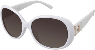 ROCAWEAR Rocawear Leather-Look Detail Rectangular Sunglasses $28 thestylecure.com