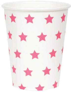 DAY Birger et Mikkelsen Sale - Fuchsia Star Paper Cups - Pack of 8 - My Little