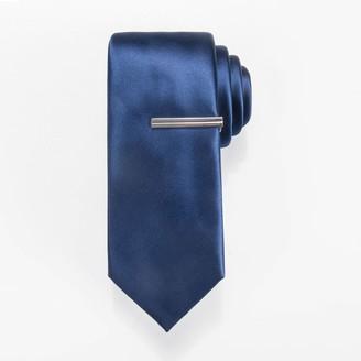 Apt. 9 Men's Solid Skinny Tie with Tie Bar