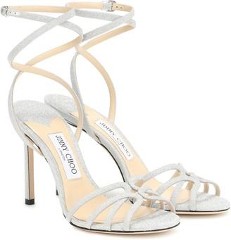 Jimmy Choo Mimi 100 glitter sandals