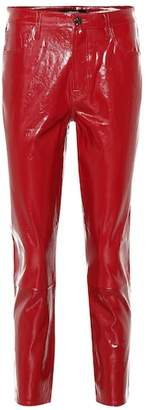 J Brand Ruby high-rise patent leather pants