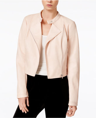 Bar III Faux-Leather Moto Jacket, Only at Macy's $99.50 thestylecure.com