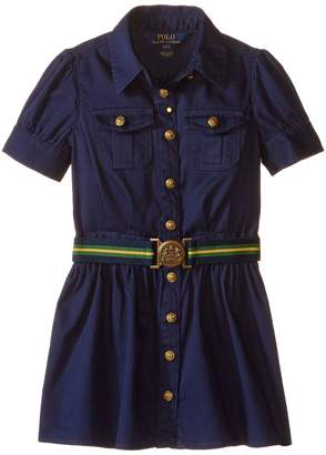 Polo Ralph Lauren Tissue Chino Shirtdress Girl's Dress