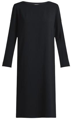 The Row Larina Crepe Tunic Dress - Womens - Black