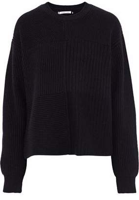 Helmut Lang Ribbed And Bouclé-Knit Wool Yak And Cashmere-Blend Sweater