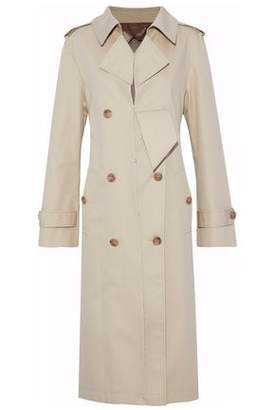 Maison Margiela Distressed Cotton-blend Gabardine Trench Coat
