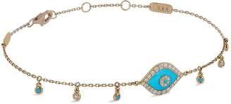 Djula Yellow Gold and Diamond Eye Bracelet