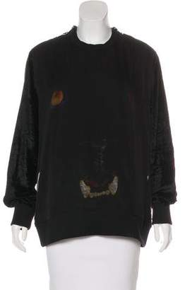 Givenchy Silk & Velvet Panther Sweatshirt
