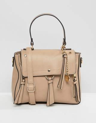 Aldo Gadossi Camel Tote Bag With Ring And Tassel Detailing