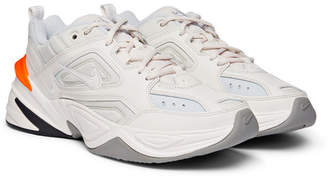 Nike M2K Tekno Leather, Nylon and Mesh Sneakers - Off-white