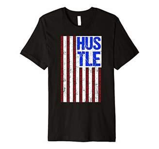 American Hustle Hard Hip Hop Hustlers USA Flag Gift Premium T-Shirt