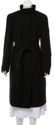 Akris Wool & Angora Blend Long Coat