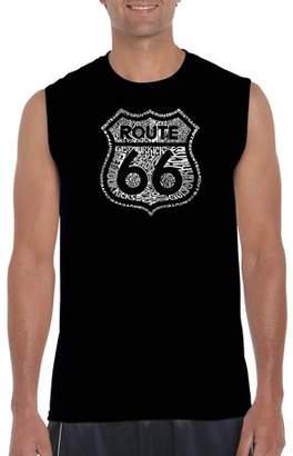 Pop Culture Big Men's Sleeveless T-Shirt - Get Your Kicks On Route 66