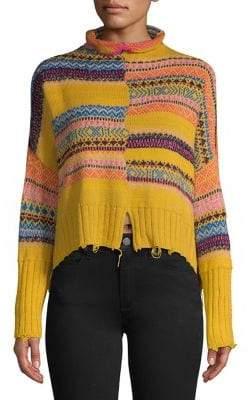 Free People Intarsia Mockneck Sweater