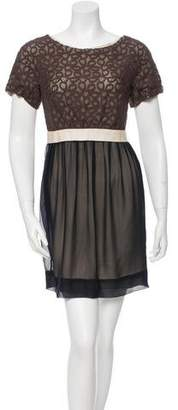3.1 Phillip Lim Lace-Trimmed Silk Dress
