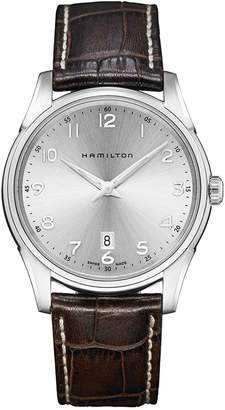 Hamilton Jazzmaster Thinline Leather Strap Watch, 42mm