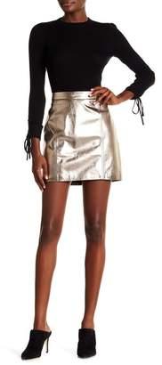 Veronica Beard Skyler Leather Mini Pencil Skirt