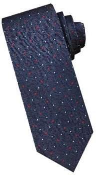 Perry Ellis Silk Pin Dot Print Tie