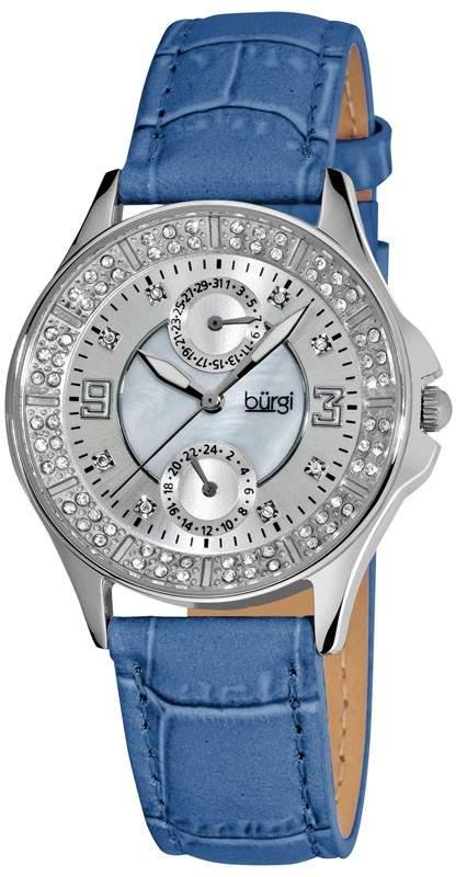 Diamond Classic Steel GMT Date Strap Ladies Watch