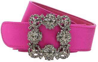 Manolo Blahnik 35mm Hangisi Swarovski Satin Belt