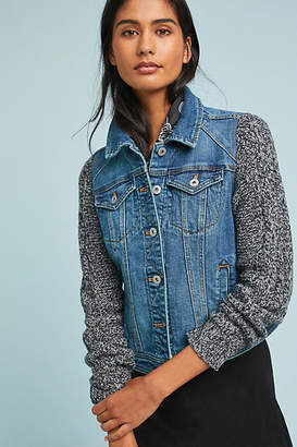 Pilcro and the Letterpress Pilcro Sweater-Sleeved Denim Jacket