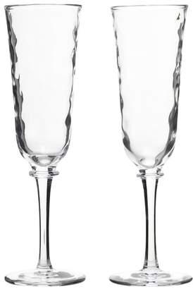 Juliska Carine Set of 2 Champagne Flutes