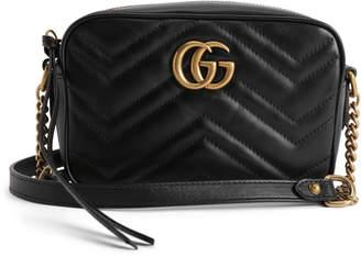 Gucci GG Marmont Camera Bag Matelasse Mini Black